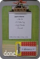 clipboard chores